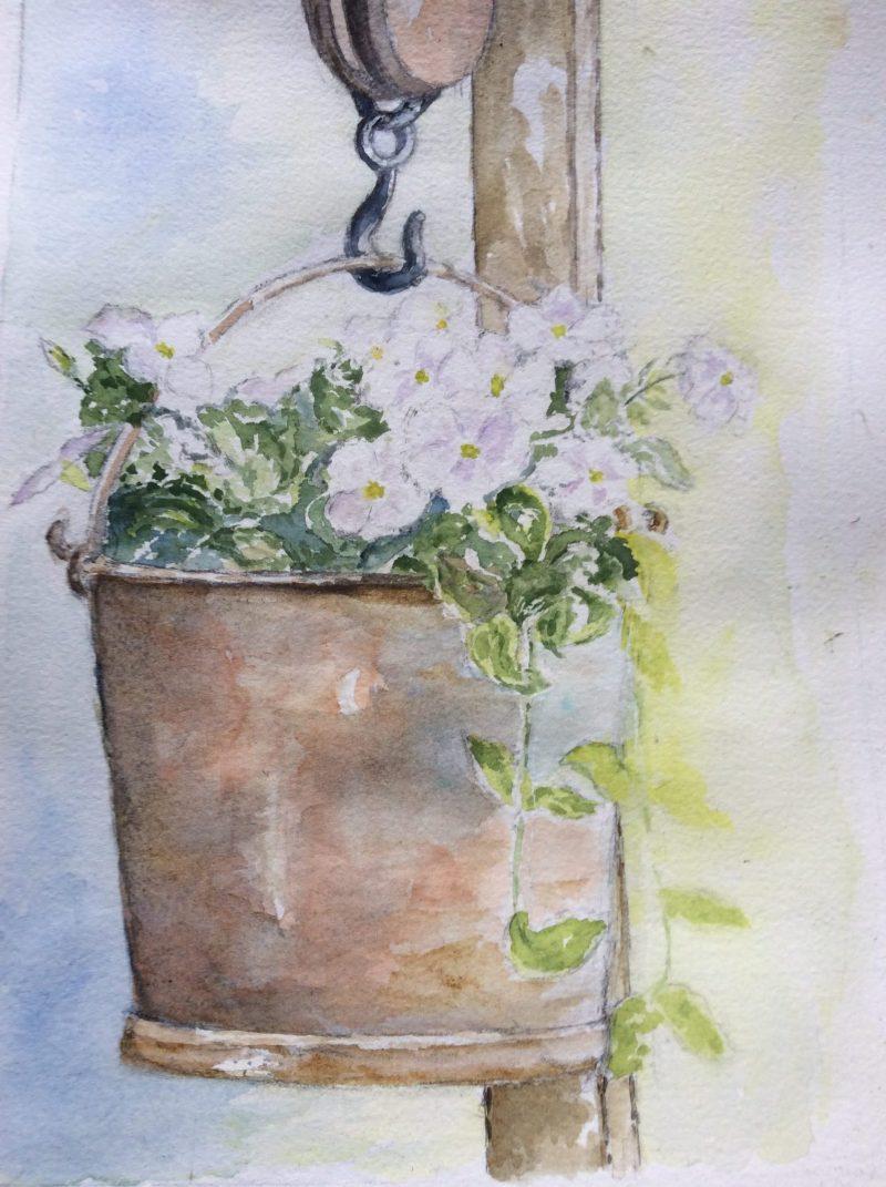 SUJET 5 fleurs blanches JOSETTE